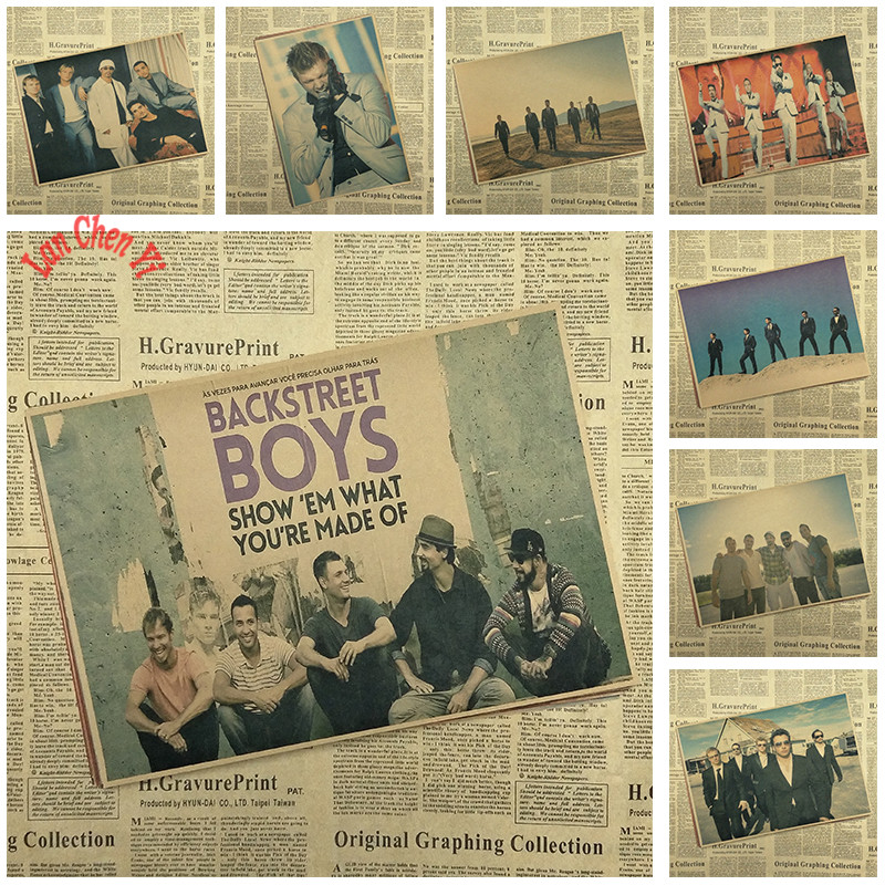 Backstreet Boys Band Classic Nostalgic Matte Kraft Paper Poster Office Gift Room Dining Home Decor wall sticker Design