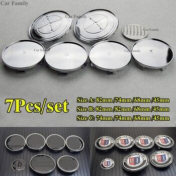 7 pçs/set Auto Car centro de Roda Hub caps Aros dos pneus Tampas Tampas Emblema para E60 E90 F10 F30 F15 E63 e64 E65 E86 E89 E85 E91 E92 E93