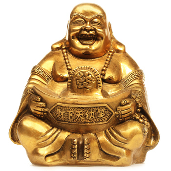 crafts copper Bronze art Copper lucky buddha decoration lucky laughing buddha home