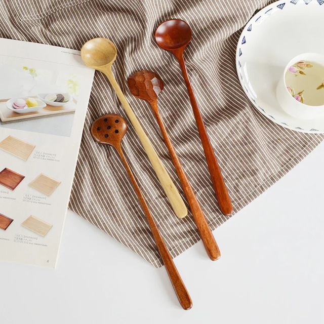 Natural Solid Wood Crafted Spoons