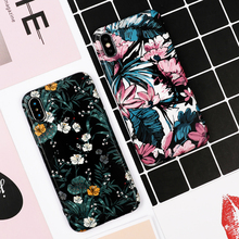 LOVECOM Art Flowers Banana Leaf Phone Case For iPhone XS Max XR 6 6S 7 8 Plus X Retro Style Flower Floral Soft Phone Back Cover