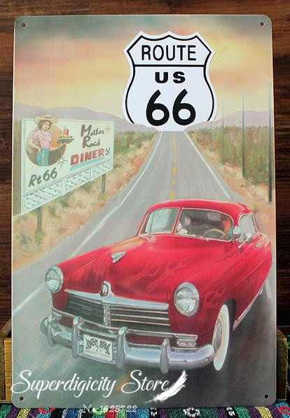 Am rica de ruta 66 pinturas vintage metal colgante de - Pinturas para el hogar ...