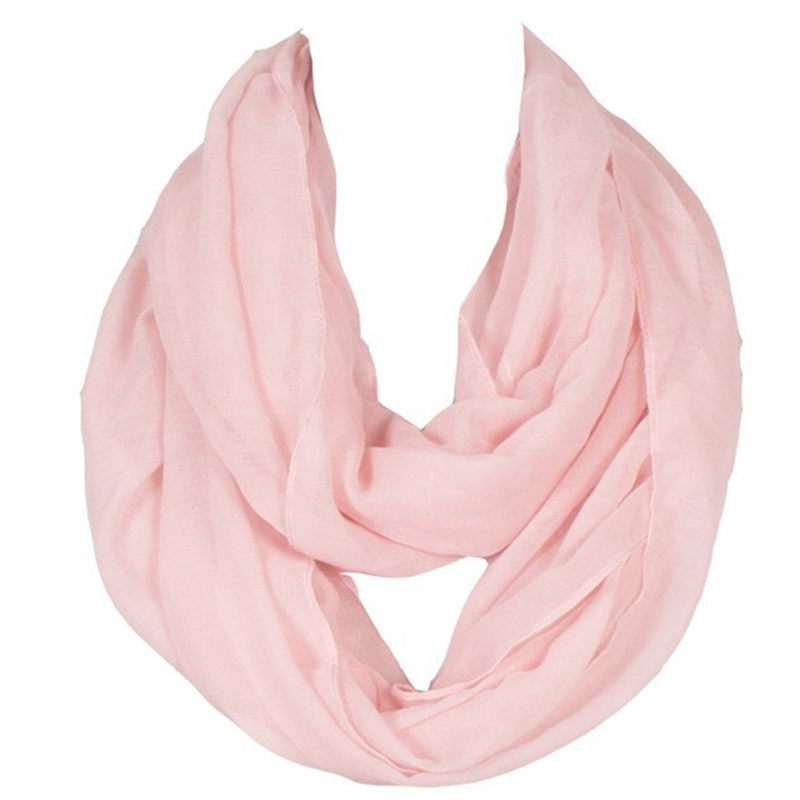 2018 New Fashion Women Infinity Scarf Design Med Solid Voile Polyester Vinter Varm Lady Ring Loop Scarf Storlek 180 * 70cm