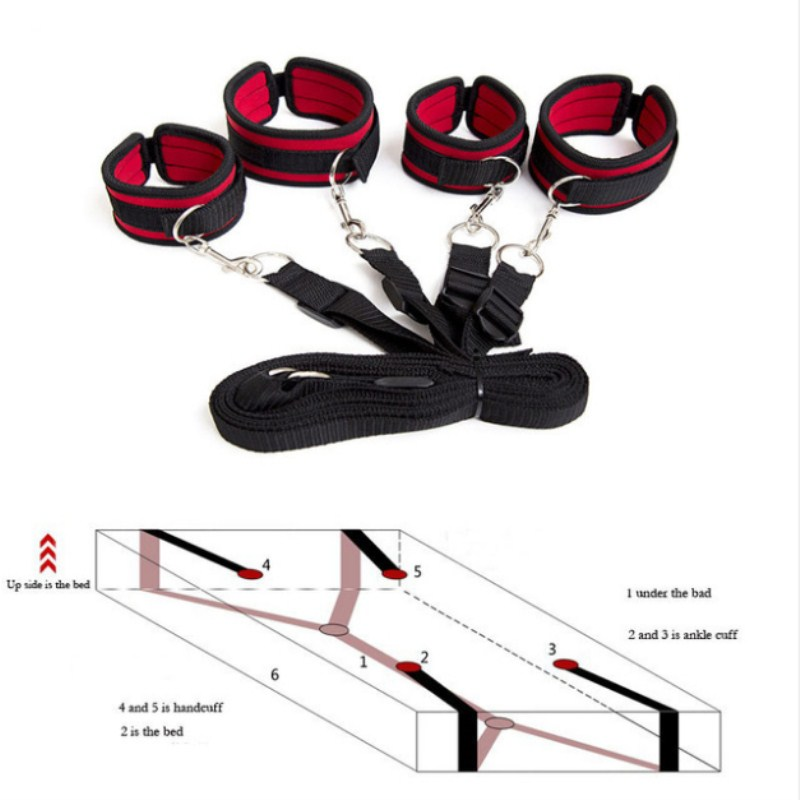 Sexy Bdsm Bondage Set Sex Erotic Toy Games Handcuff Slave SM Restraint System For Adults Couples Wrists Ankle Cuffs