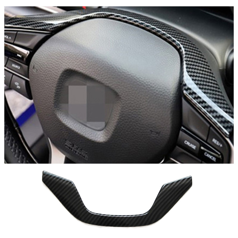 ABS Carbon Fiber Interior Steering Wheel Inner Trim Frame Molding Garnish Decoration for <font><b>Honda</b></font> <font><b>Accord</b></font> <font><b>2018</b></font> Car <font><b>Accessories</b></font> image