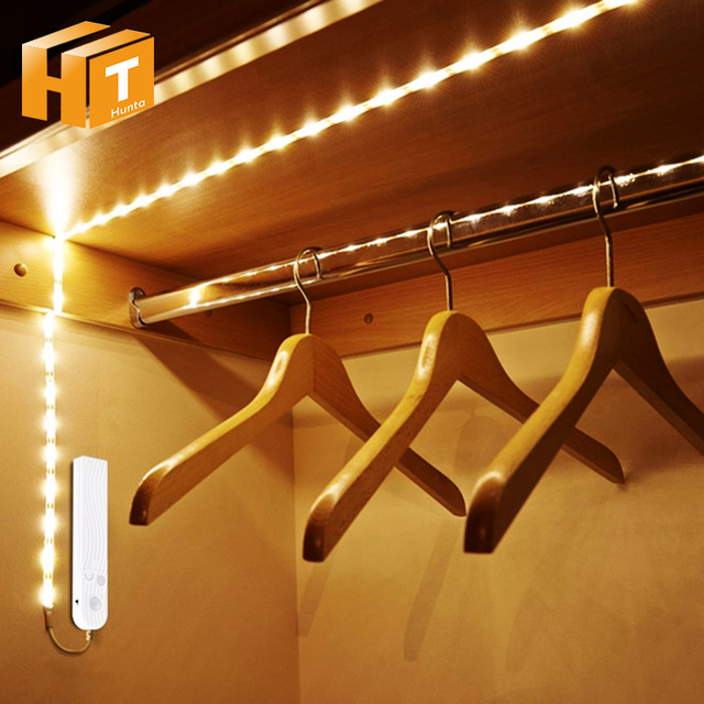 Pir Motion Sensor Led Strip Lights 1m 2m 3m Waterproof Dc 5v Usb Nightlight For Bed Cabinet Stairs