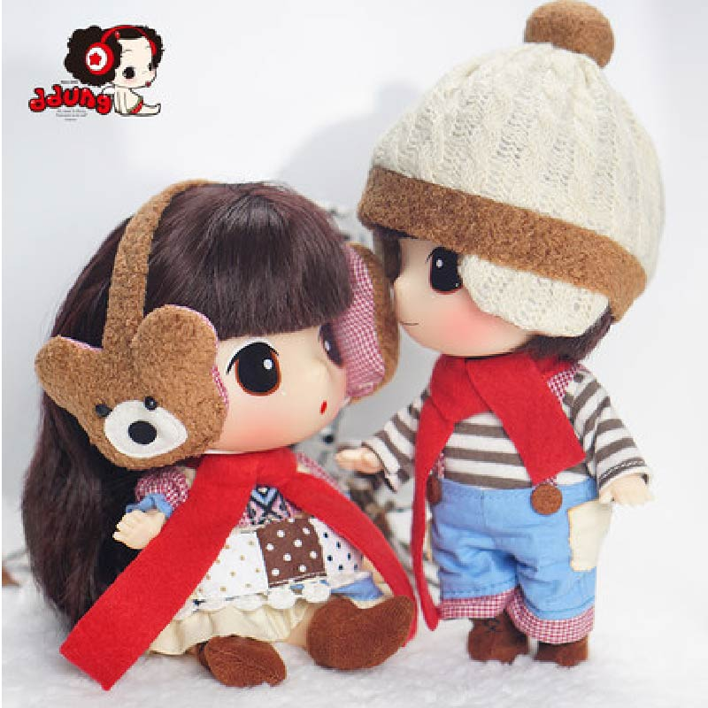 Ddung Korea Doll Lovers Couple Toys 7 Inch Valentine s Day Gifts BJD Pajamas Fashion Silicone