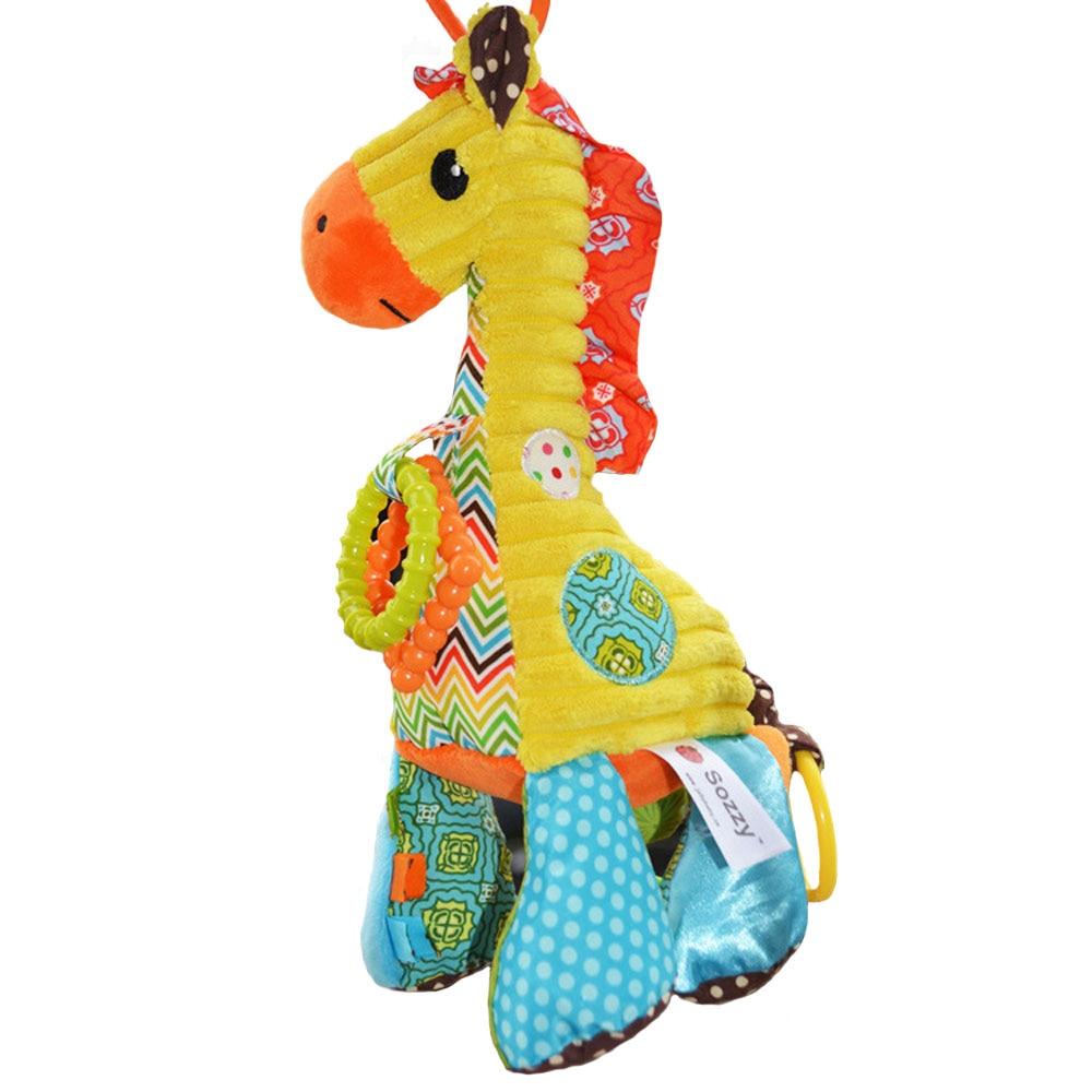 Musical Baby Toys : Musical soft baby toys giraffe cartoon animal infant