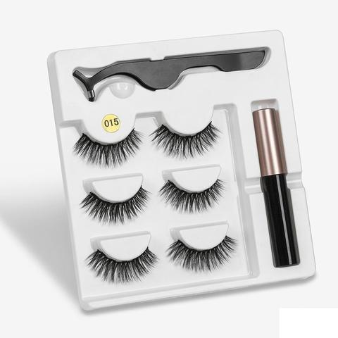 Eyeliner Liquid Magnetic False Eyelashes Tweezer Set Eye Lashes Kit Women Black Makeup Karachi