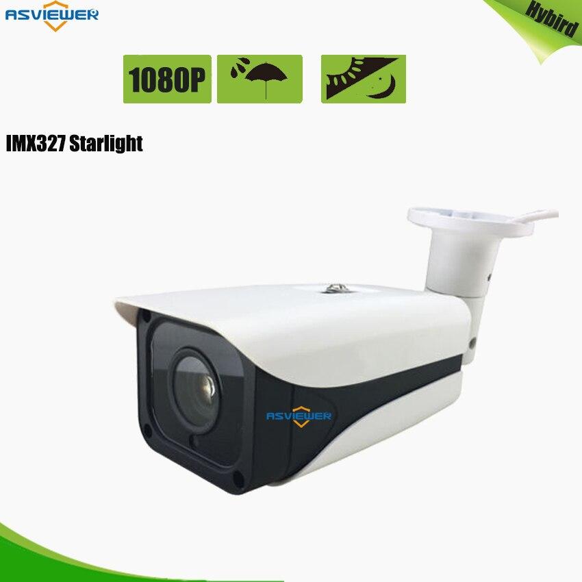 Sony imx327 cmos capteur starlight ahd 1080 p caméra ir cut filtre cctv vidéo caméra de surveillance extérieure avec vision nocturne