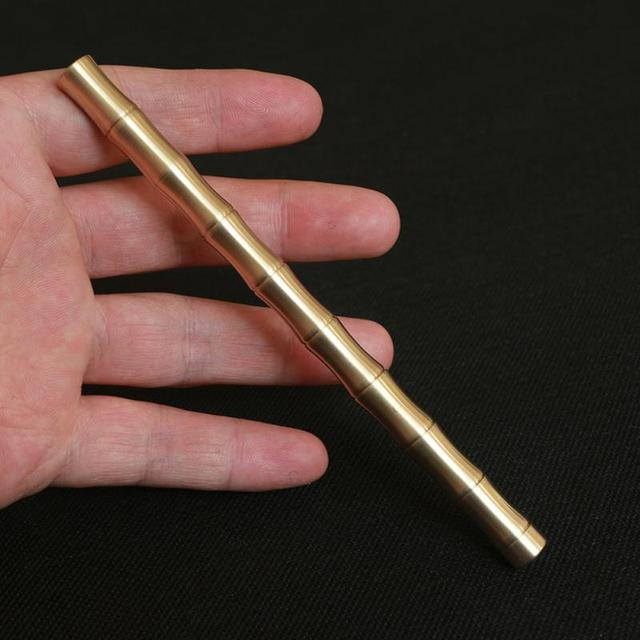 New Arrived Fashion Pure Copper Brass Pen Stylus Pen Handmade Copper Full Metal Pen Tactical Pen