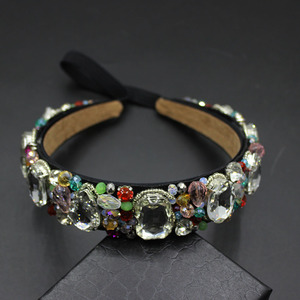 Image 5 - ファッション宝石ビーズヴィンテージ女性の花バロック良質ヘアバンド高級クリスタル宝石のヘッドバンドブライダルジュエリー 609