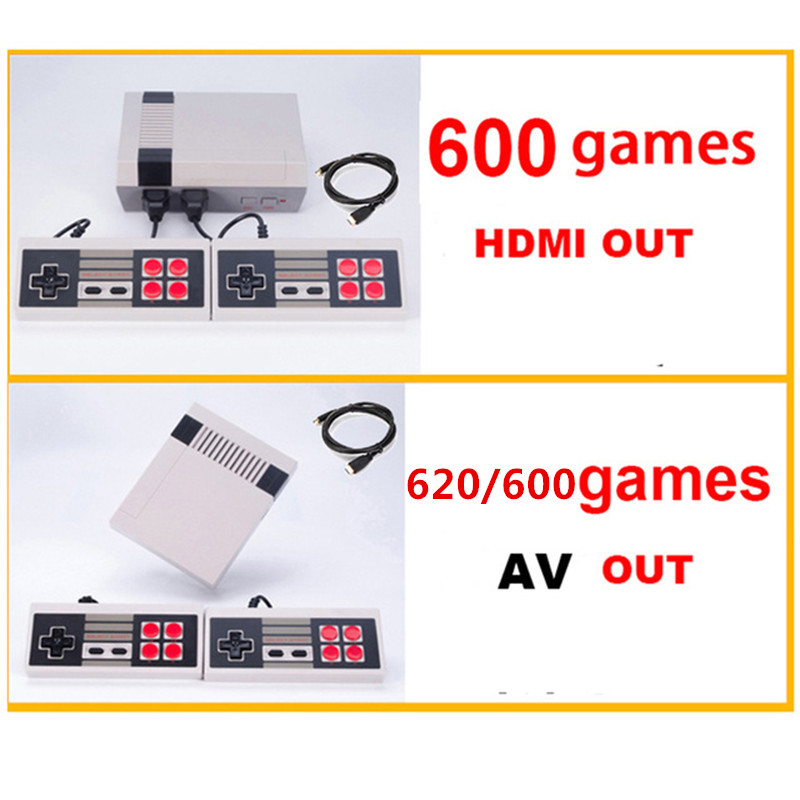 HDMI/AV Out Mini Retro TV Game Console Support TV Handheld Game Player Video Game Console To TV With 620/600 Built-in Games(China)