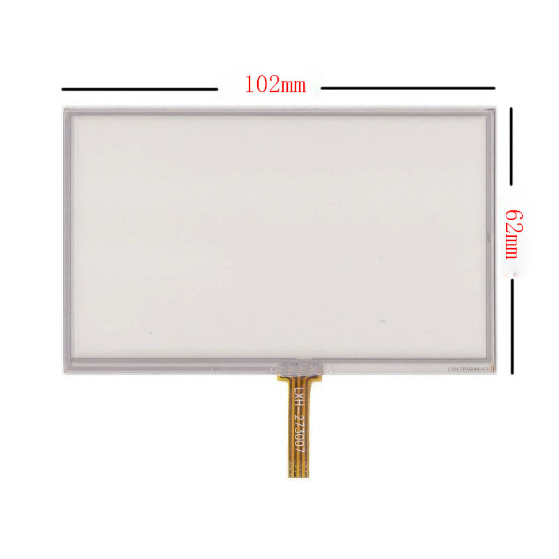 New 4.3 inch 4Wire Resistive Touch Panel Digitizer Screen For TeXet TN-501 GPS Free shipping new 3 5 inch 4wire resistive touch panel digitizer screen for texet tn 300 gps free shipping