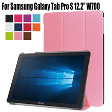 for Samsung Galaxy Tab Pro S 12.2 W707 W703 W700 (12.2″) Stand PU leather Cover Case Magnet Protective Skin Pouch Smart Wake Up