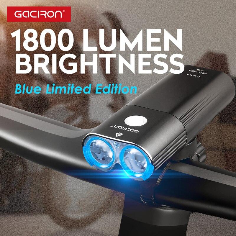 Gaciron 1800 Lumen Fahrrad Lichter Bike 6700mAh Power Bank Wiederaufladbare MTB Rennrad Scheinwerfer 2 * LED Licht Wasserdicht taschenlampe - 3