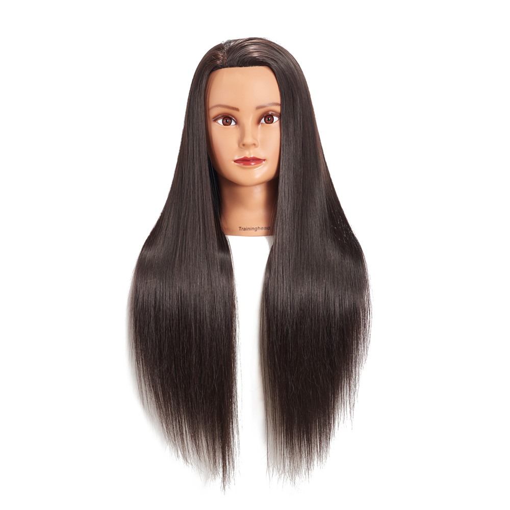"Traininghead 26-28"" Mannequin Head Blonde Synthetic Long Hair Hairstyle Hairdressers Training Female Professional Manikin Head"
