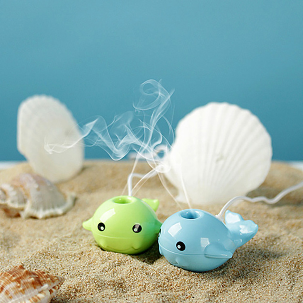 Creative Mini Whale Shape USB Portable Air Humidifier Cute Cartoon Essential Oil Aroma Diffuser Home Office Mist Maker Fogger