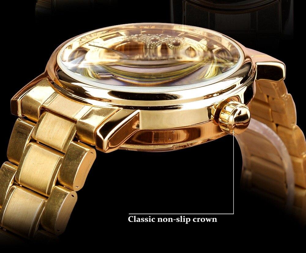 marca superior esqueleto luxo masculino relógio montre homme