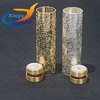 rogue mod full carving Mechanical Mod 18650 battery material brass 24mm Mech Mod For 510hread DIY Atomizers RDA vs AV MOD sob