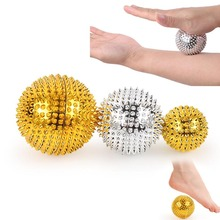 1Pair Hand Magnetic Therapy Spiky Massage Ball Pressure Relief Trigger Point Palm Acupuncture Pocket