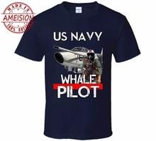 New 2019 Fashion Hot Summer The Us Navy A-3 Skywarrior Whale Pilot T Shirt tee Brand customization mens
