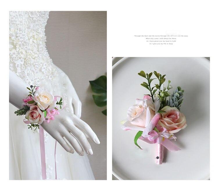 wedding boutonniere wrist corsage marriage  (8)