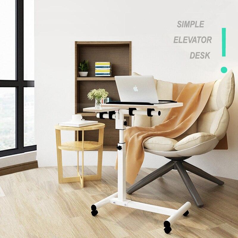 Bureau d'ordinateur Portable réglable pliant ergonomique Portable lit bureau Stand canapé ordinateur Portable plateau Table roues mobiles bureau d'étude Simple
