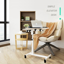 Folding Adjustable Laptop Desk Ergonomic Portable Bed Lap Desk Stand Sofa Notebook Tray Table Mobile Wheels Simple Studying DesK