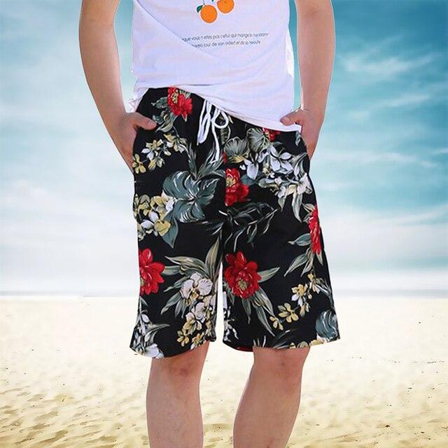 2019 גברים Trunk של חוף גלישה מהיר יבש חוף לוח הוואי מכנסיים נופש שרוך מודפס מקרית Bottoms
