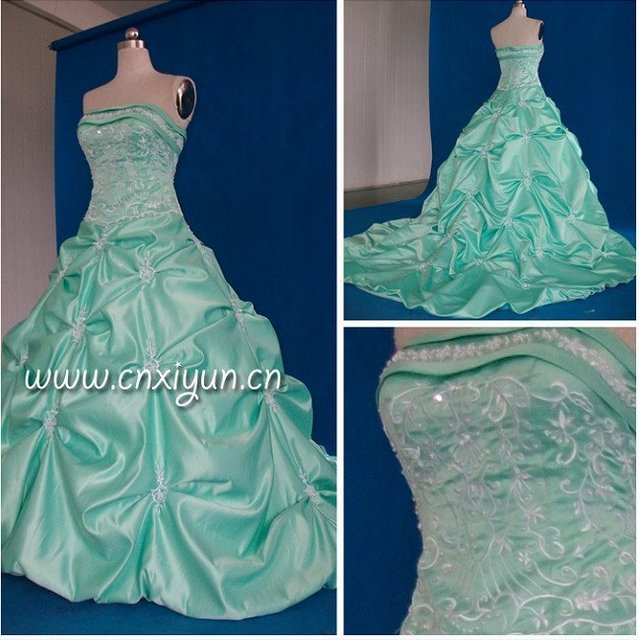 100% Real Picture high quality free shipping Satin ruffled Wedding Dresses ASDF0051