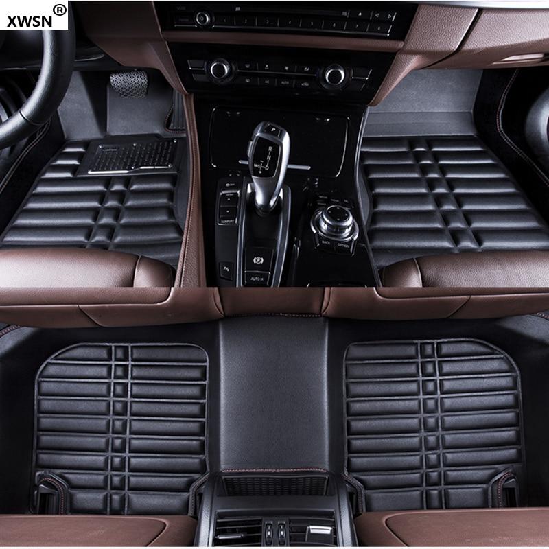 XWSN Custom car floor mats for bmw f10 f25 f30 f45 x1 x3 f25 x5 f15 e30 e34 e60 e65 e70 e83 e90 320i Car waterproof floor ma