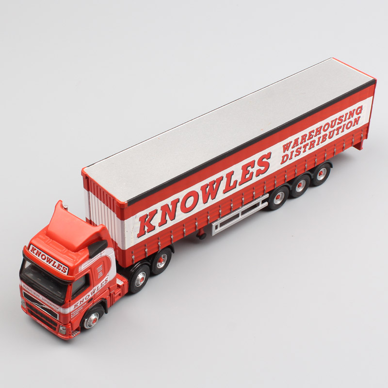 1:76 Scale Corgi Volvo FH12 Heavy Container Cargo Truck Knowles Lorry Curtainside Trailer Metal Diecast Model Car Toy Collectors