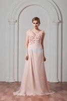 Livraison gratuite 2018 vente chaude saree nouveau design personnalisé couleur/taille à la main fleur robe rose longue plus la taille de demoiselle d'honneur robes
