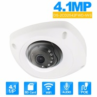 Hikvision English Version DS 2CD2542FWD IWS 4 0 Megapixel IR Dome Camera IP Supportuilt In Microphone