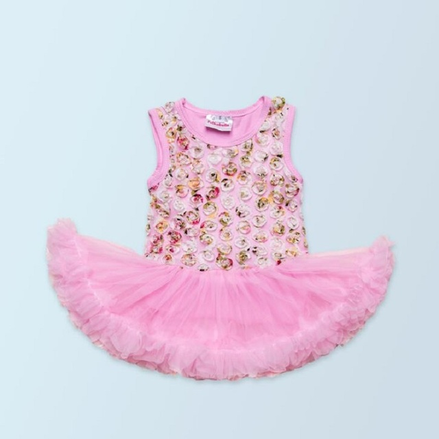 The New Girls Summer Color rose romper dress Infant dress Climbing clothes Female baby clothing