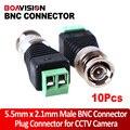 10 Unids/lote Coaxial Coaxial BNC Conector Coaxial BNC Twist Para la Cámara de CCTV