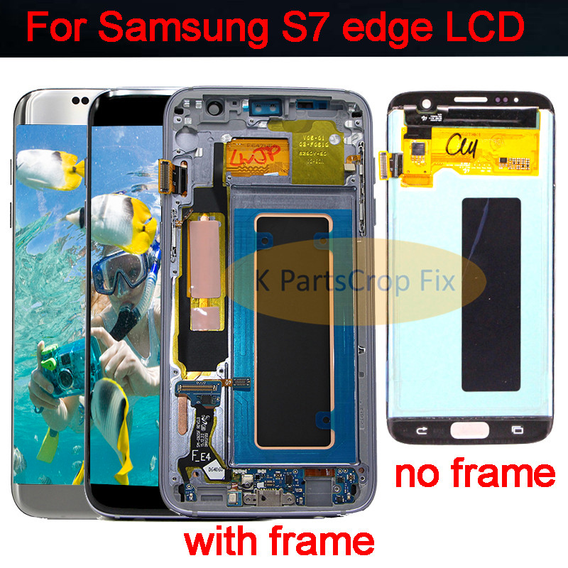 For SAMSUNG GALAXY S7 EDGE G935 G935F LCD with frame Display Touch Screen Digitizer Assembly 5