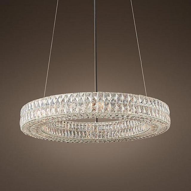 Modern Annulus led Chandelier for living room Ball room large Ring Crystal lamp Restaurant dining room E14 Lustre Cristal light