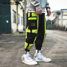 HIYSIZ New Pants 2019 Brand Casual Streetwear fashion Trend Spring new style original Japanese personality color trousers ST421