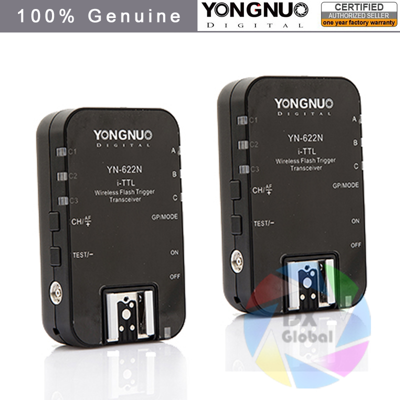 Yongnuo YN-622N Wireless TTL Flash Trigger for Nikon D600 D700 D800 D3000 D5000 D5200 D7100 D7200 D3300 D3200 D3100 D90 yongnuo 1 x yn 622n tx 1 x rx yn 622n kit ttl lcd wireless flash trigger set for nk d800 d800e d800s d600 d610 d7200 d7100
