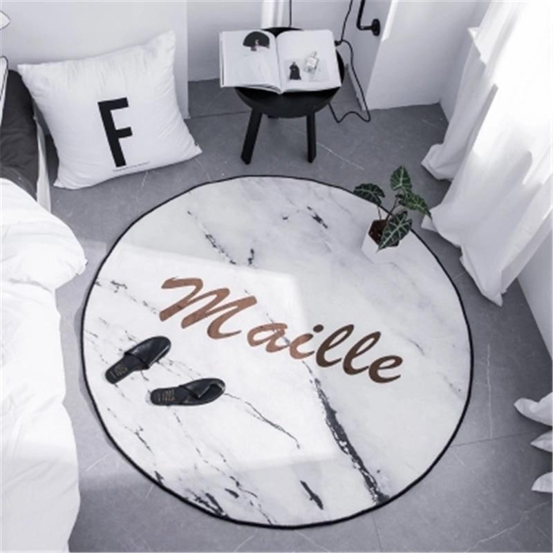 1 nordique simple moderne vestiaire web célébrité circulaire tapis salon chambre étude ordinateur chaise suspendu panier tapis de sol