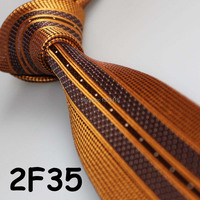 Cheap Sell ! 2017 Latest Style Fashion/Business Gold/Brown Geometric/Stripe/Dual Front men casual ties/tie for groom in weddings