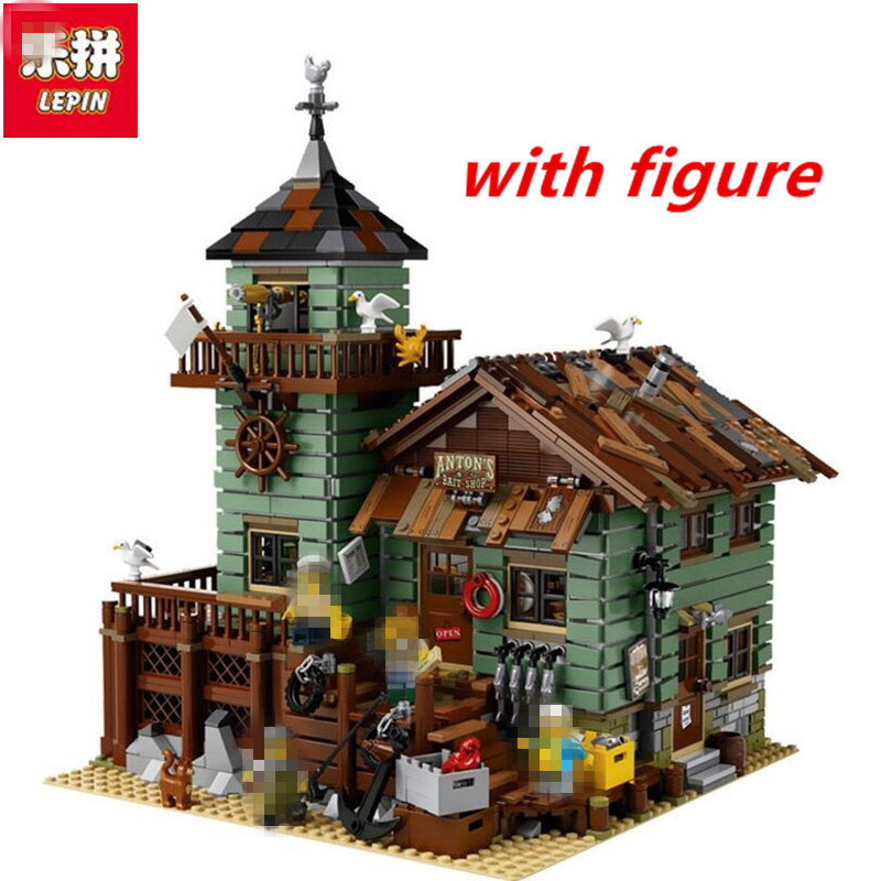 Lepin 16050 compatible legoing ideas 21310 Old Finishing store 2109Pcs  MOC Series The Old Finishing Store Set Building Bricks lepin 16050 the old finishing store set moc series 21310 building blocks bricks educational children diy toys christmas gift