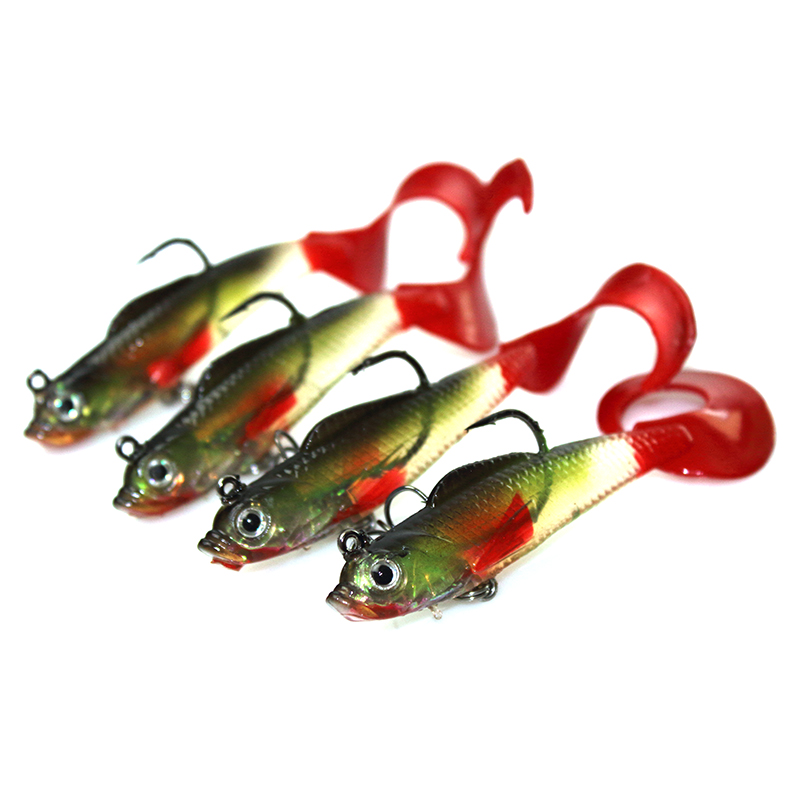 YeMuLang 1pcs 8cm 9g Swimbait Doux Appâts Artificiels Leurres de - Pêche - Photo 4