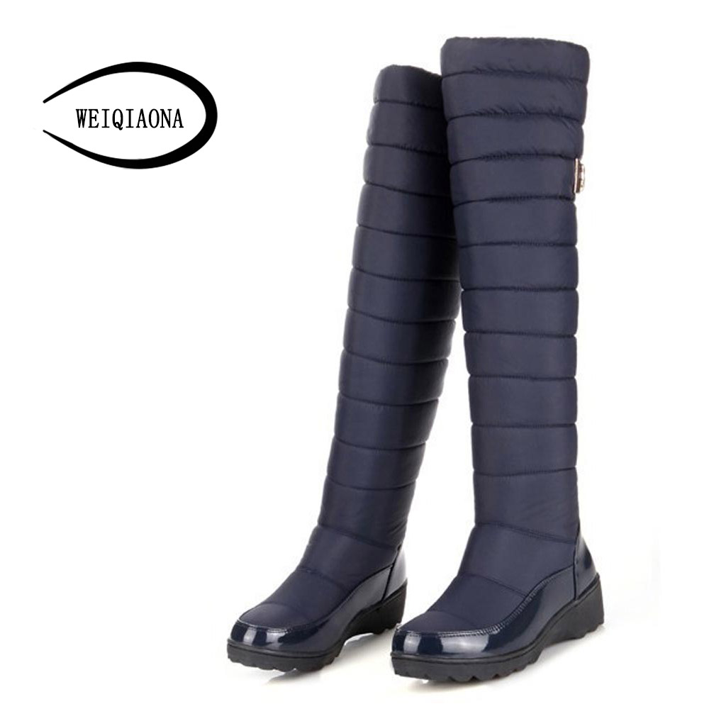 new arrival keep warm snow boots fashion platform fur thigh knee high boots waterproof warm winter boots for women shoes boats stomacher
