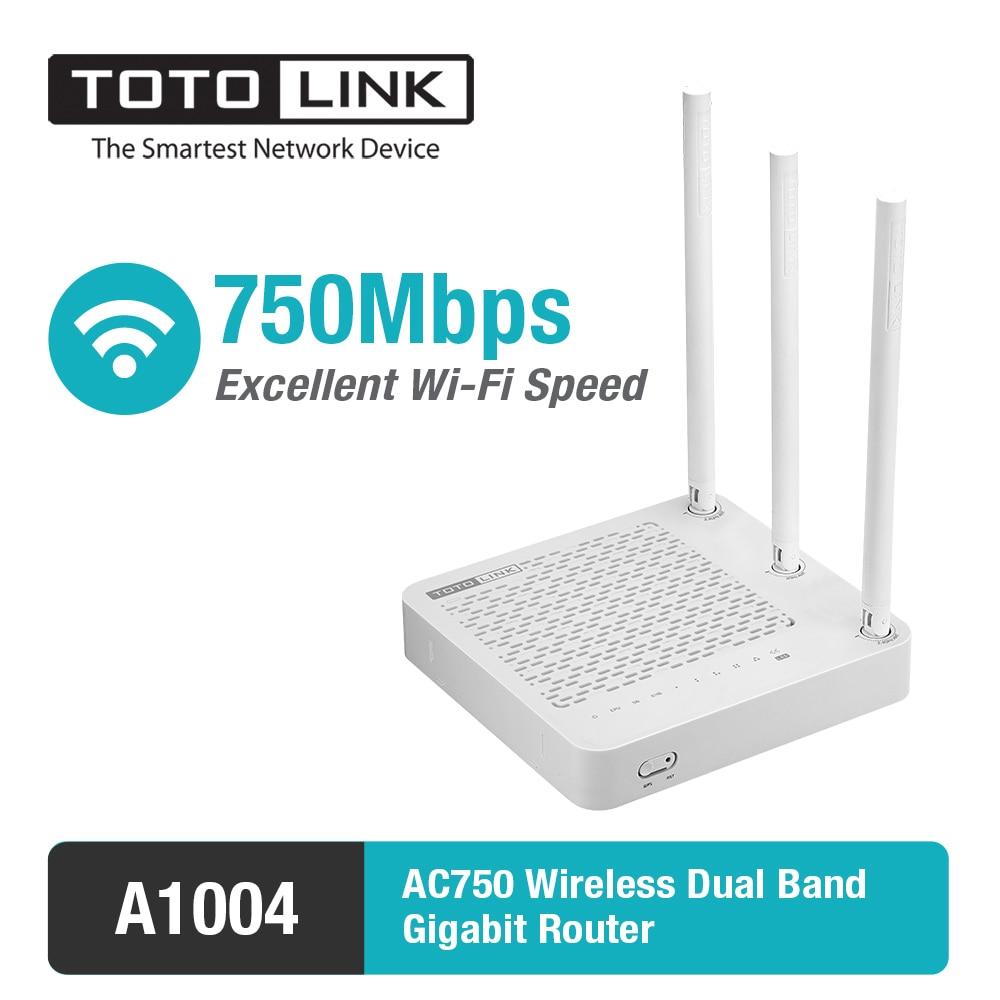 Prix pour Totolink a1004 11ac 750 mbps double bande sans fil gigabit routeur prend en charge vpn serveur/répéteur