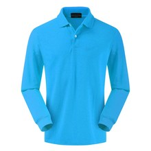 High quality 100% cotton autumn mens wear long sleeve polo shirt lapel Paul Europe and simple solid color top