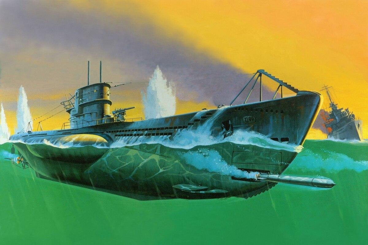 U BOOT schiff boat militär navy kunst KD316 wohnzimmer wandkunst ...