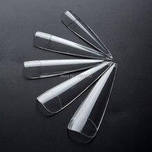 12 Sizes 24x Long Sharp Ending Stiletto False Nails Plastic Nail UV Gel Acrylic False Nail